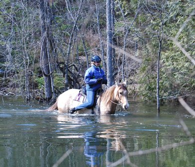 April hack through local pond, not a chore for our Piper